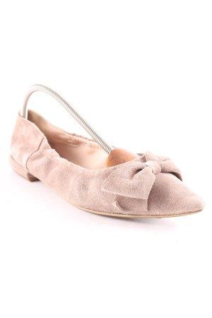 abro Ballerinas mit Spitze hellbraun Elegant