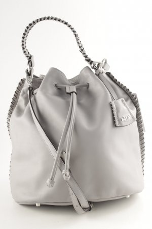 "abro Pouch Bag ""Leather Velvet Bucket Bag Light Grey"" light grey"