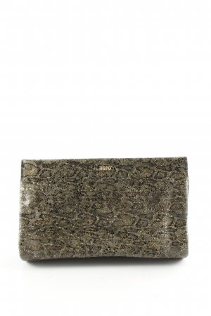 abro Clutch khaki-nude abstract pattern elegant