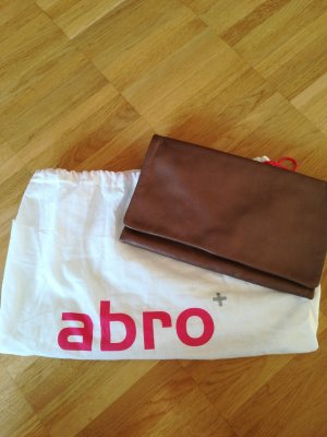 abro Clutch bronze-colored-brown leather