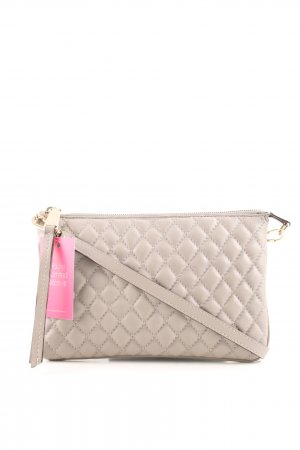 abro Clutch wollweiß Steppmuster Casual-Look