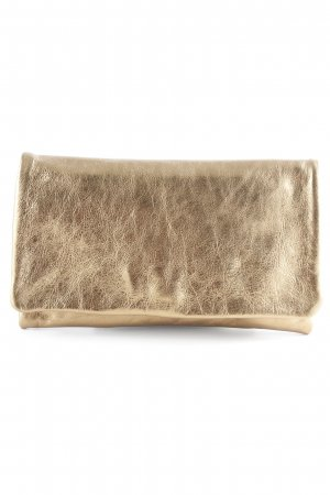 abro Clutch goldfarben Metallic-Optik
