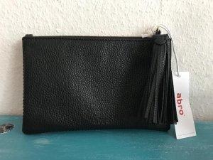 Abro Clutch  Leder-schwarz  Neu