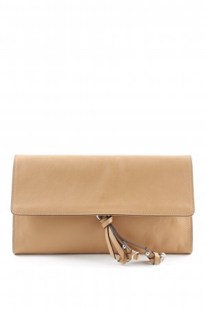 "abro Clutch ""Lotus Leather Clutch Cuoio"" beige"
