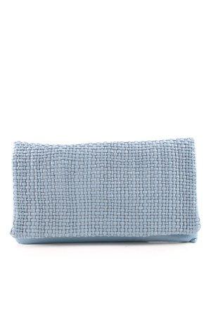 "abro Borsa clutch ""Mini Eleonor Weave Leather Fold Over Clutch Light Blue"""
