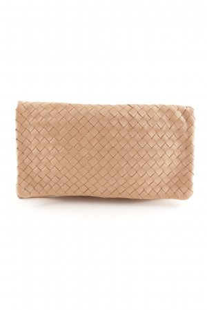 abro Clutch nude grafisches Muster Elegant