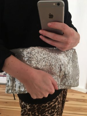 abro Clutch silver-colored