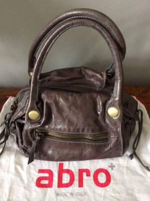 abro Handbag grey lilac-black leather
