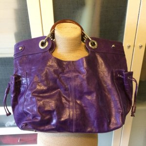 abro Handbag lilac-blue violet leather