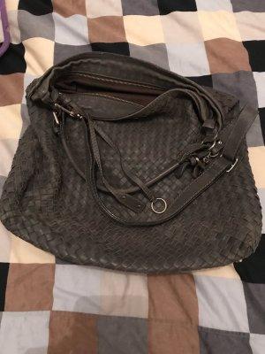 ABRO Echtledertasche in Flechtoptik