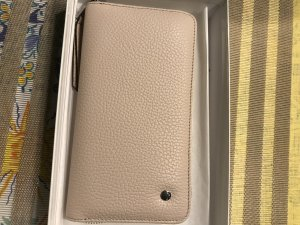 abro Wallet natural white leather