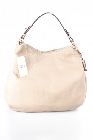"abro Handtasche ""Adria Calf Leather Hobo Bag Ecru"" beige"