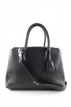 "abro Handbag ""Adria Grained Leather Tote Black Nickel"" black"
