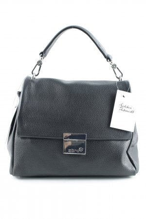 "abro Handtasche ""Adria Leather Shoulder Bag black/nickel"""