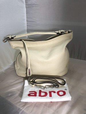 Abro Handtasche aus Leder mit Schulterriemen und Staubbeutel