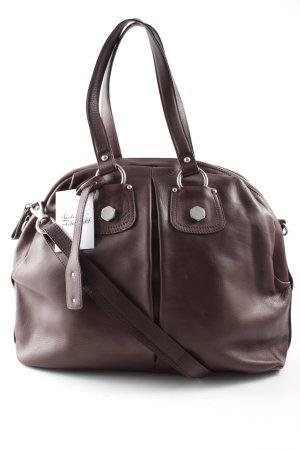 abro Handtasche braun-silberfarben klassischer Stil