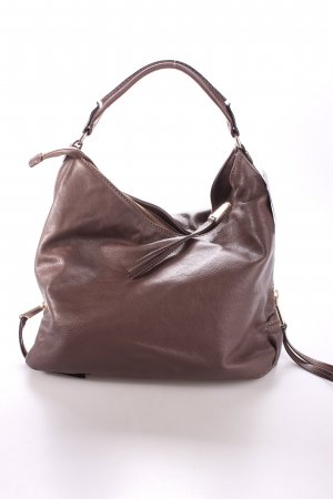 "abro Handtasche ""Braveheart Leather Hobo Bag Siena"" dunkelbraun"