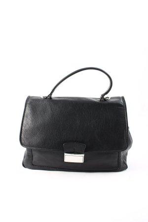 """abro Handtasche """"Braveheart Leather Satchel Black/Nickel"""" schwarz"""