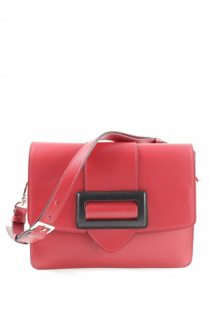 "abro Borsetta ""Calf Carmen Shoulder Bag Red/Black"" rosso chiaro"