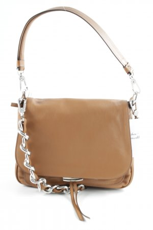 abro Handbag cognac-coloured simple style