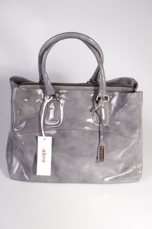 Abro Handtasche Handbag Leather Patent Grey II