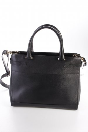 Abro Handtasche Handbag Leather Saffiano Black