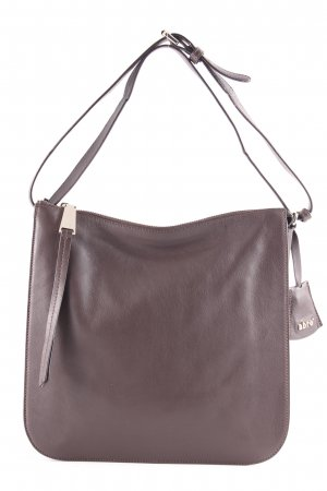 "abro Handbag ""Handbag Leather Velvet Dark Brown"" dark brown"