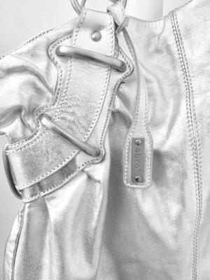 Abro  Handtasche Kalbs- Leder Silber /Luxuslinie/ Top Zustand