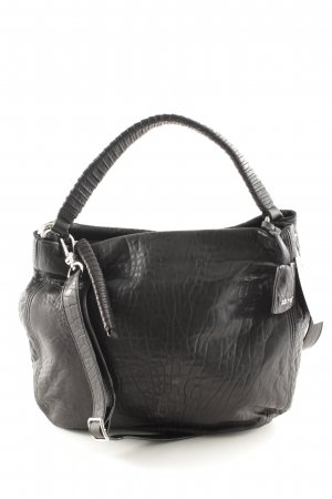 "abro Handtasche ""Lamb Leather Frog Washed Hobo Bag"" schwarz"