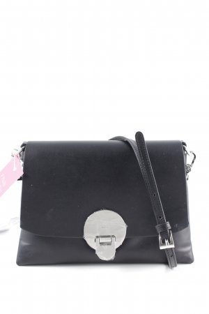 "abro Handtasche ""Lotus Crossbody Bag Black/Nickel"" schwarz"