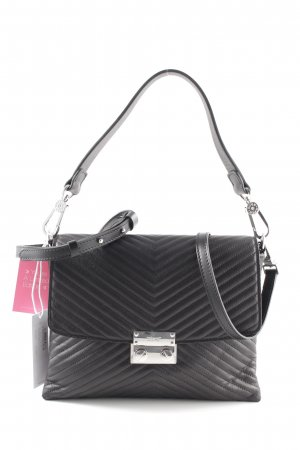 "abro Bolso ""Lotus Quilted Leather Flap Shoulder Bag Black/Nickel"" negro"