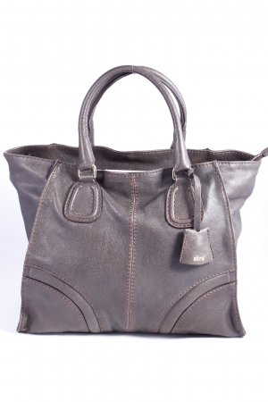 "abro Handtasche ""Mokka Handbag Leather Dark Brown"" dunkelbraun"
