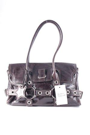 abro Handtasche schwarzbraun Casual-Look