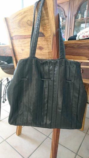 abro Handbag white-black leather
