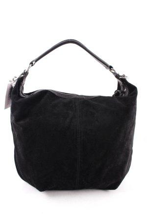 abro Handtasche silberfarben-schwarz Casual-Look