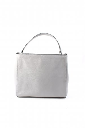 "abro Handtasche ""Small Adria Calf Leather Tote Light Grey"" grau"