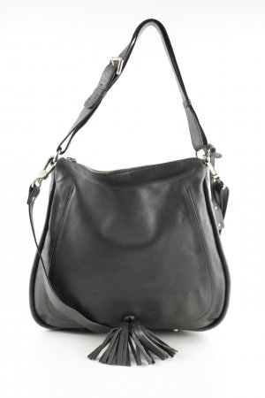 "abro Handtas ""Velvet Hobo Bag Leather Grey"" grijs"