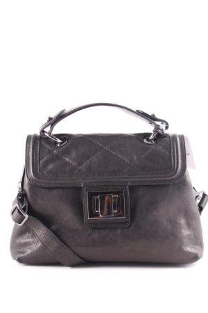 "abro Handtasche ""West Trapp Top Handle Leather Bag Black/Guncolor"" schwarz"