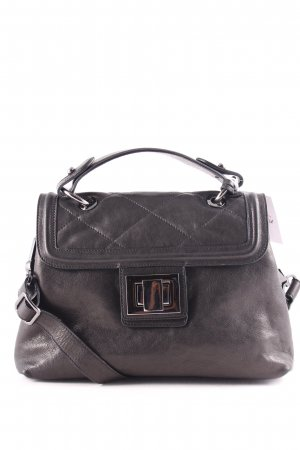 "abro Handtasche ""West Trapp Top Handle Leather Bag Black/Guncolor"" schwarz"