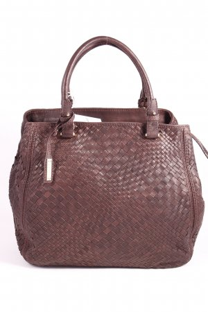 "abro Handtasche ""Winter Macchiato Braided Handbag Dark Brown"" dunkelbraun"