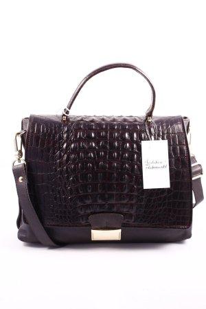 "abro Handtasche ""Zoe Croc Calf Leather Handbag Dark Brown"" dunkelbraun"
