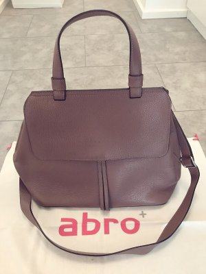 abro Carry Bag grey lilac leather