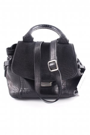 "abro Henkeltasche ""Adria Leather Handle Bag XS Black/Nickel"" schwarz"