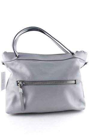 "abro Henkeltasche ""Adria Two Way Zipper Tote Grey "" silberfarben"