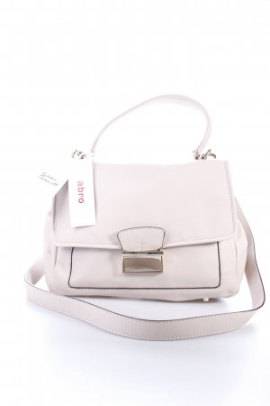 "abro Henkeltasche ""Braveheart Leather Satchel Beige Small "" beige"