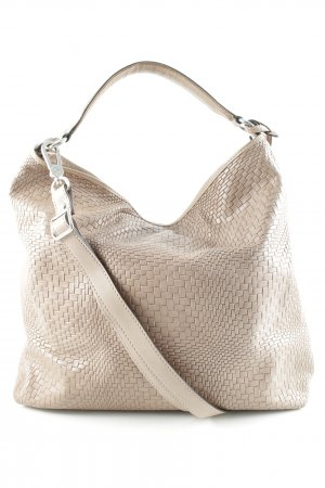 abro Carry Bag camel herringbone pattern elegant