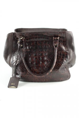 abro Carry Bag dark brown animal pattern business style