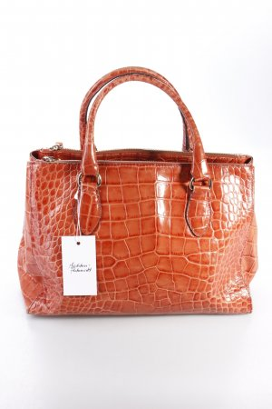 Abro Henkeltasche Handbag Croco Dream Lux Cuoio Vintage-Optik terracotta