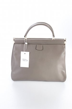 Abro Henkeltasche Handbag Handle Leather Match Grey beigegrau