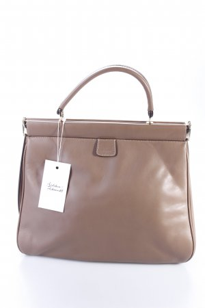 Abro Henkeltasche Handbag Handle Leather Match Nude beigebraun